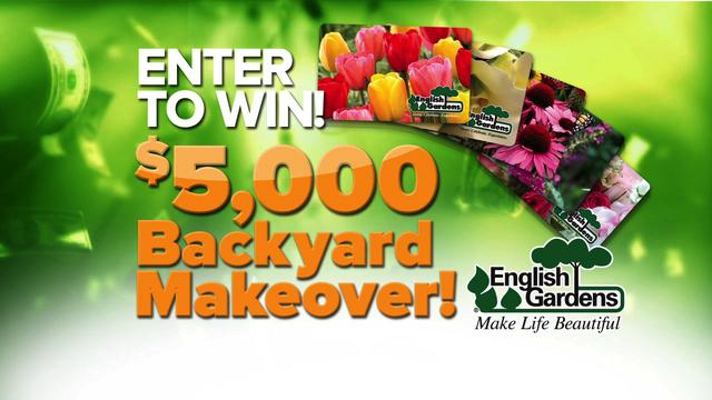 Win a $5,000 English Gardens backyard makeover
