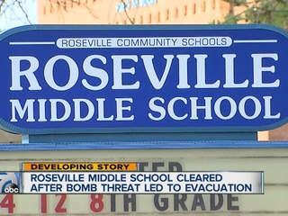 Roseville Middle School cleared after threat