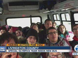 Bus for Livingston special olympians breaks down
