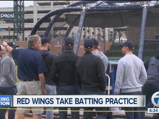 Red Wings watch Tigers take batting practice