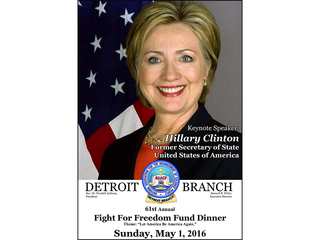 Hillary Clinton speaks at Detroit NAACP dinner