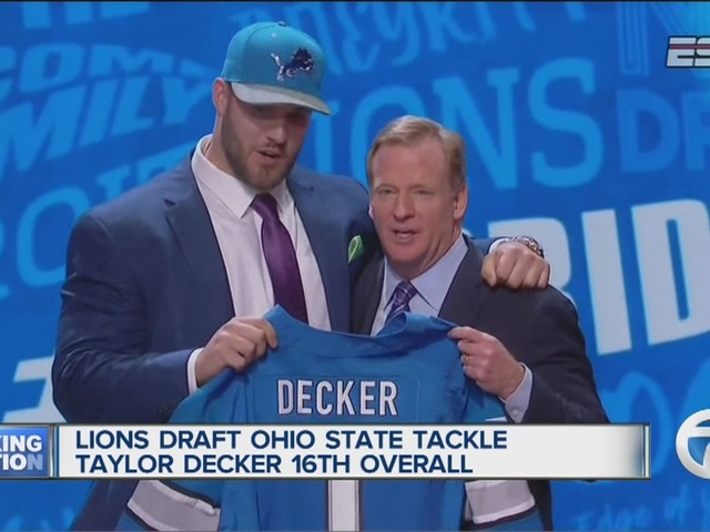 Detroit Lions draft Ohio State offensive tackle Taylor Decker
