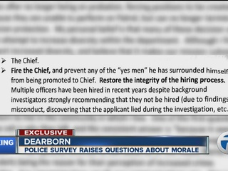 Survey paints bad picture of life at Dearborn PD