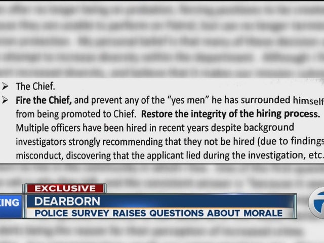 Scathing survey paints ugly picture of life inside Dearborn Police Department
