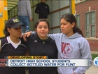 Detroit students collect bottled water for Flint