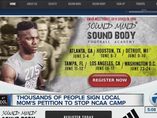 Mom wins fight against NCAA satellite camp ban