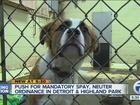 Should spaying/neutering of pets be mandatory?