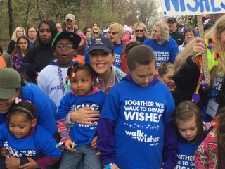 Walkers raise money to grant children wishes