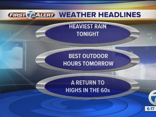 FORECAST: Rain continues through tonight