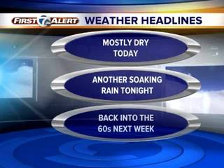 FORECAST: Drizzly early, a soaking tonight