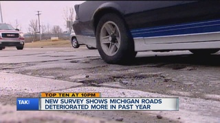Official report says MI roads getting worse