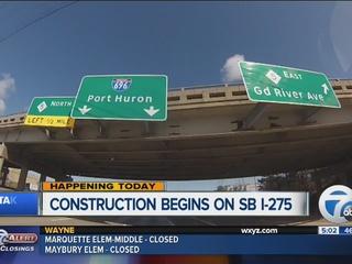 SB I-275 closes Mon. between I-96/I-696, 5 Mile