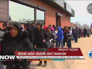 Water shutoffs begin Tuesday in Detroit