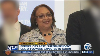 Former DPS admin Clara Flowers in court today