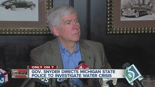 MSP investigated water crisis at Gov's direction