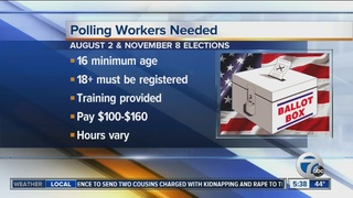Workers Wanted: Polling workers needed