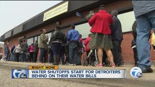 Detroit water shutoffs begin over past-due bills