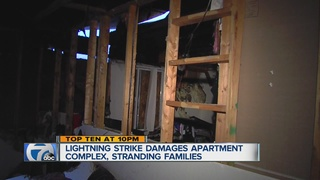 Lightning strike damages Ypsilanti apartments