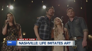 Stephen Clark talks with the stars of Nashville