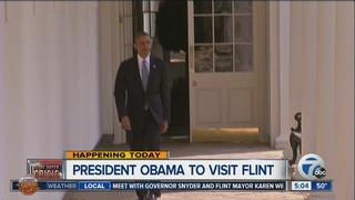 President Obama visiting Flint today