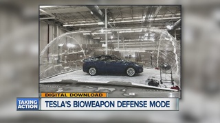 Tesla tests filter system with polluted bubble