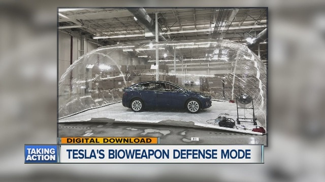 Tesla tests out hepa filtration system and bioweapon for Tesla cabin air filter