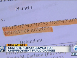 Error blamed for unemployment fraud charges