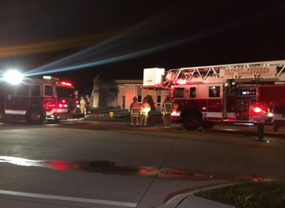 Crews battle fire at tile business in Eastpointe