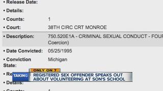 Sex offender who volunteered at school speaks