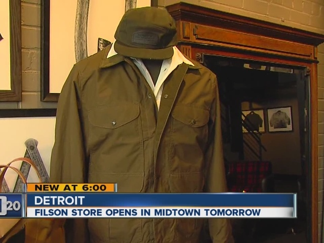 Filson to open in midtown Detroit on Friday - WXYZ.com
