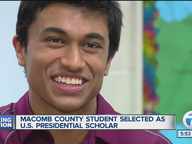 Macomb County student selected as US Presidential Scholar