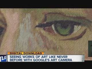 Google art camera captures famous works up close