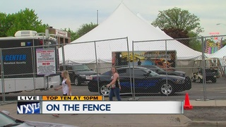 Church fences in festival to keep trouble out