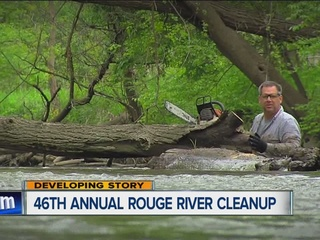 Hundreds work to clean Rouge River on Saturday