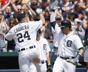 Tigers beat Rays but Zimmermann, Cabrera hurt