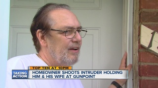 Man shoots intruder during intense home invasion