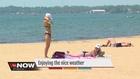 Detroiters enjoying sunshine and nice weather
