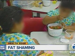 Fat shaming can begin in elementary school