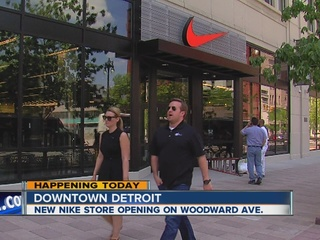 New Nike store set to open in Detroit today
