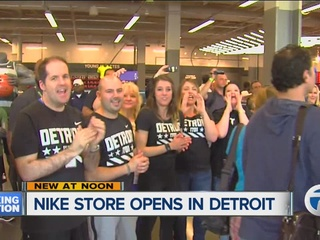 New Nike store opens today in Detroit