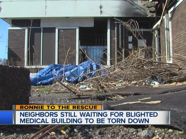 Blighted medical clinic still stands