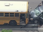 Suspected road rage leads to school bus accident