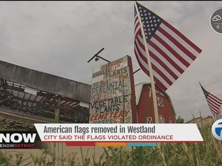 Westland returns American flags to business