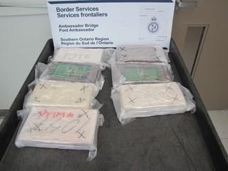 Cocaine found in car at Ambassador Bridge