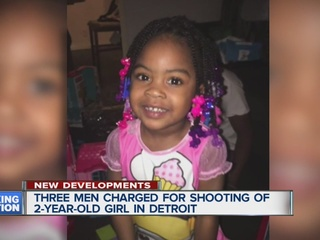3 charged in shooting death of 2-year-old girl