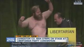 Man who stripped at Libertarian convention talks