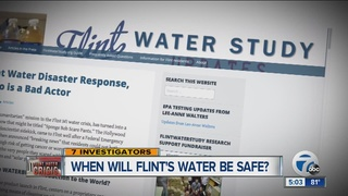 When will Flint's water be safe?