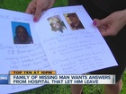 Man's family wants answers after he disappears
