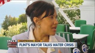 Weaver talks water crisis response on Mackinac