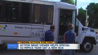 New bus for Special Olympians in need of a ride